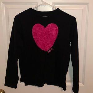 NWT Dkny Girls Heart Sweater